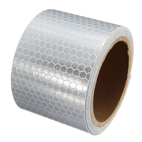 5cm 3m white reflective safety warning conspicuity tape