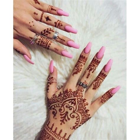 henna tattoo and nails henna and pink nails nails pink nails