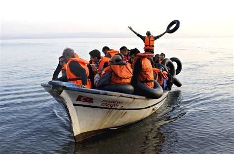 refugee on boat refugees in greece fantasy travel of greece