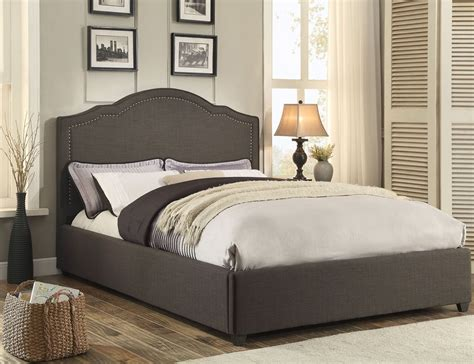 grey upholstered bed zaira gray queen upholstered panel bed 1885n 1 homelegance