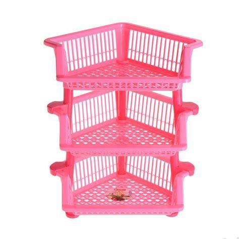 Rak Persegi Susun 3 jual multi rak sudut segitiga pink 3 susun harga kualitas terjamin