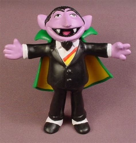 sesame rubber sts sesame 1996 the count rubber figure with bendable