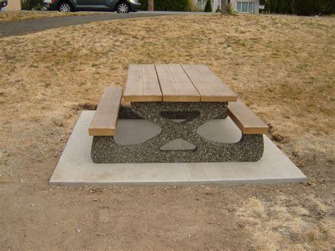 concrete picnic tables best home ideas collection