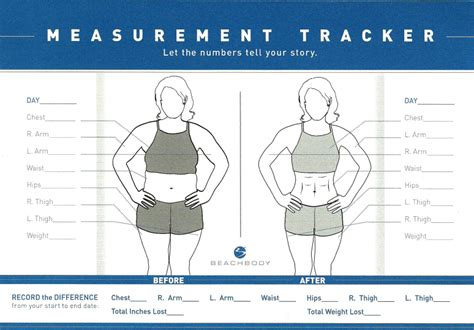 weight and measurement chart for weight loss new