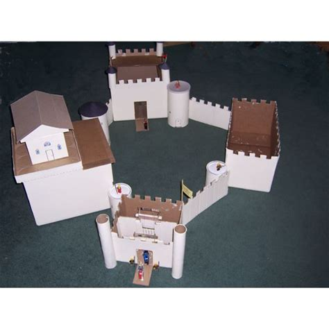 How To Make A Paper Castle - how to make a cardboard castle for a homeschooling project