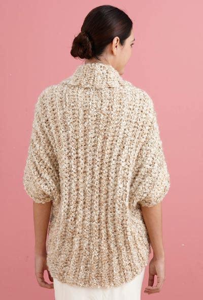pattern for simple shrug free crochet pattern l20507b simple crochet shrug lion