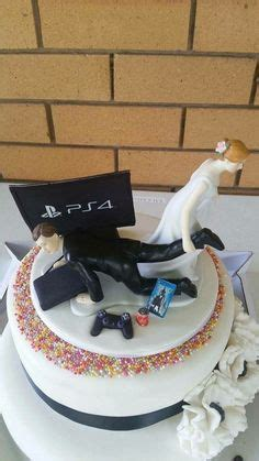 hochzeitstorte xbox and groom ps4 wedding cake topper