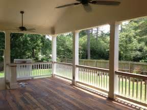 Outdoor Patio Furniture Atlanta by Covered Ipe Wood Deck Traditional Porch Atlanta By