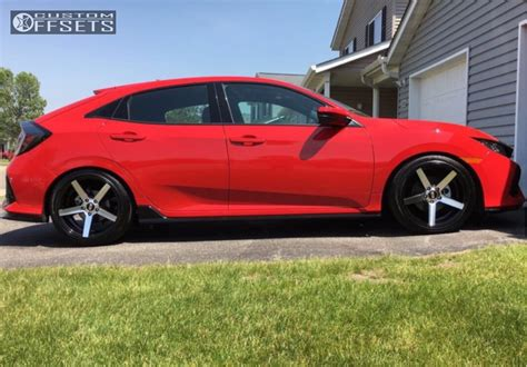 honda civic springs wheel offset 2017 honda civic flush lowering springs