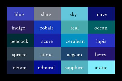 color thesaurus find the hue with this handy color thesaurus