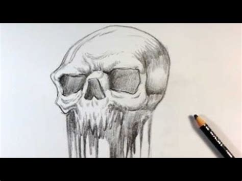 melting skull tattoo drawing a melted skull design skull drawings