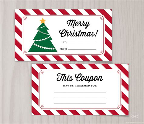 Blank Printable Coupons Blank Christmas Coupon Book Last