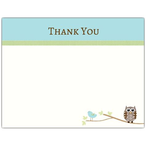 Thank You Letter Format Owl Owl Baby Shower Thank You Note Paperstyle
