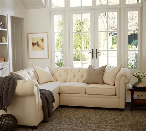 pottery barn l shaped couch chesterfield 3 piece l shaped corner sectional polyester