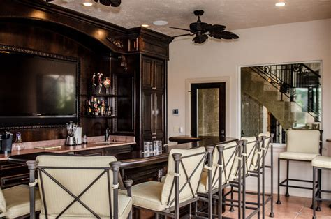 Indoor Bar Indoor Outdoor Bar Mediterranean Kitchen Dallas By
