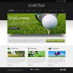 golf website template template design