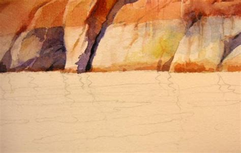 watercolor value tutorial how to paint water reflections watercolor painting step