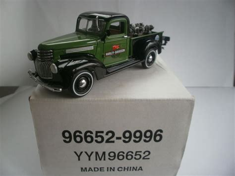 Matchbox 75 Chevy 1 matchbox collectibles scale 1 43 chevy 1941 with 6 quot harley davidson quot engines catawiki