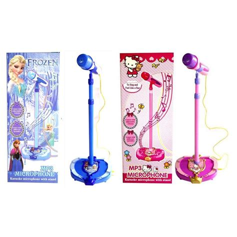 hello frozen adjustable mp3 karaoke microphone with
