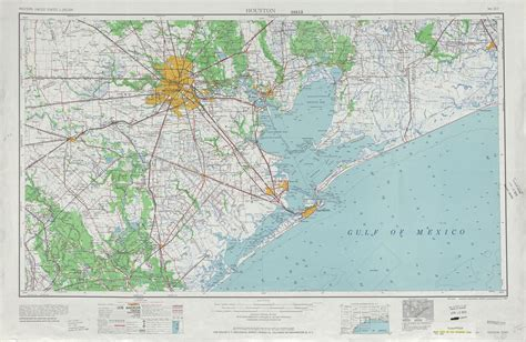 topographic map texas houston topographic map sheet united states 1956 size