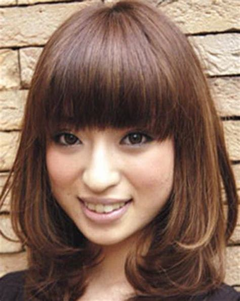 hairstyles for round face korean korean medium haircut