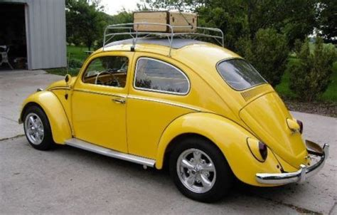 find used 1962 vw beetle bug yellow sunroof resto