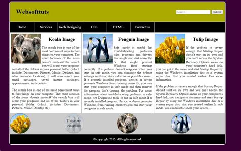Simple Web Template Free Source Code Tutorials And Articles Html And Css Templates With Source Code Free