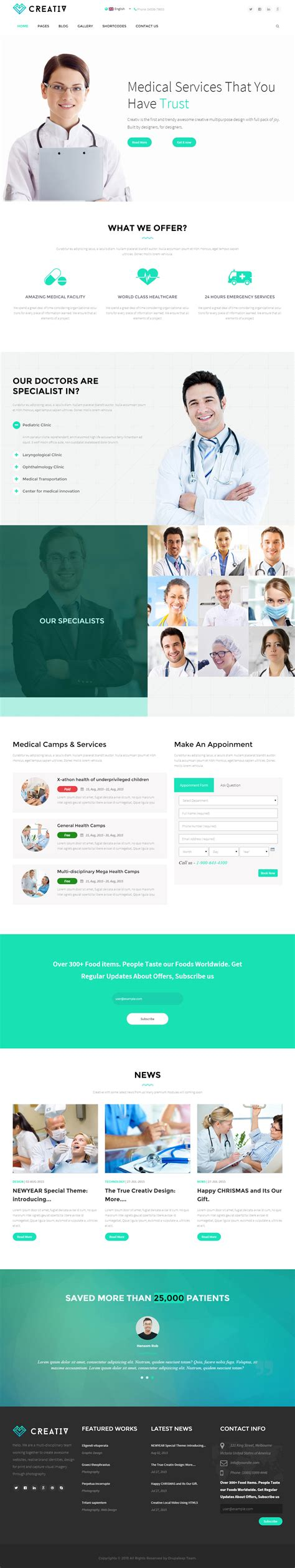 drupal themes hospital 5 best drupal medical and healthcare themes 2017