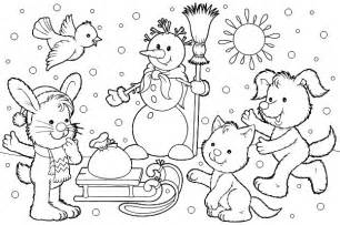 winter coloring pages free coloring pages of winter