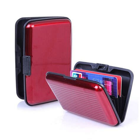 men s mini wallet metal aluminum case business id credit