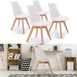 chaises x4 blanches pour salle 224 manger design