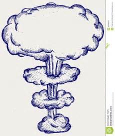 doodle nuke atomic explosion stock photo image 30886060