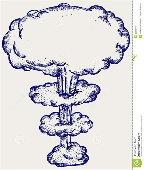 doodle how to make nuclear bomb atomic explosion stock photo image 30886060