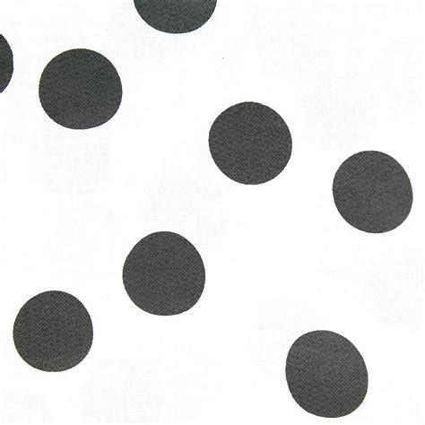 black pattern cotton fabric coated cotton fabric big pattern white big black dots