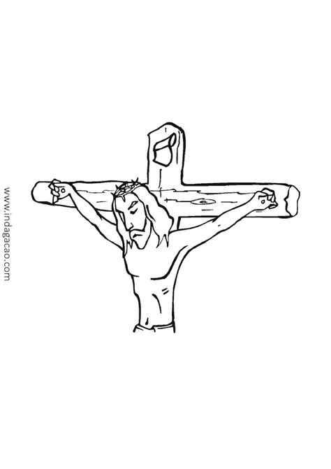 Desenho Jesus na cruz para colorir baixar - INDAGAÇÃO