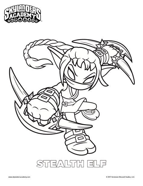 coloring pages of stealth elf free skylanders stealth elf coloring page mama likes this