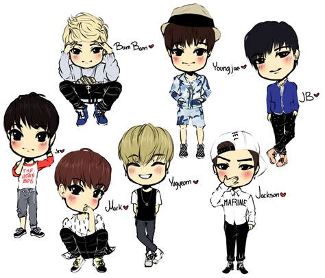 Kpop Chibi Drawing by Kpop Chibi Oh Boy Got7 By Xxxrinrulesxxx On Deviantart