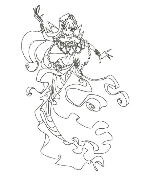 coloring pages winx winx club mermaid bloom coloring page by winxmagic237
