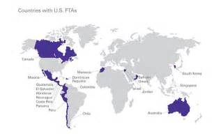 us free trade agreements map open your business to global customers
