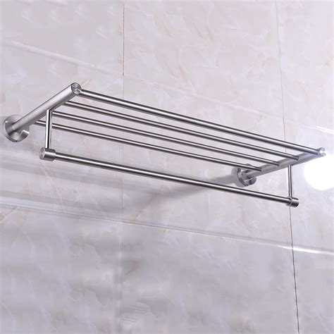 Bathroom Towel Rack Shelf Wall Mounted Aliexpress Buy Wall Mounted Towel Rack Brushed