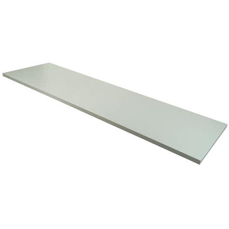 14in x 48in wood melamine shelf white