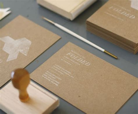 craft paper business cards white ink st on kraft paper graphic ink