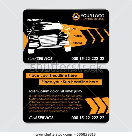 auto repair business card template automotive service business card template car stock vector