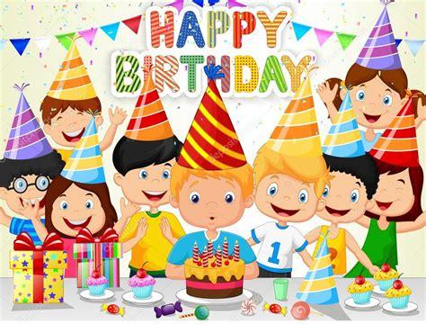 imagenes para cumpleaños serias dibujos animados feliz muchacho soplando velas de