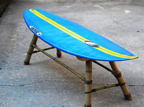 surfboard bench surfboard bench made with bamboo hemp chord old