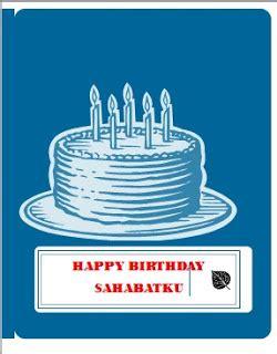 cara membuat kartu ucapan ulang tahun yang bagus contoh susunan acara november 2011