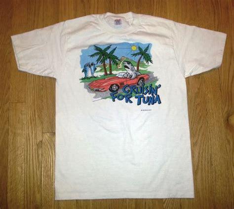 T Shirt Ie Tuna Iet 0002 1986 cruisin for tuna t shirt 80s sharkie shirts surf