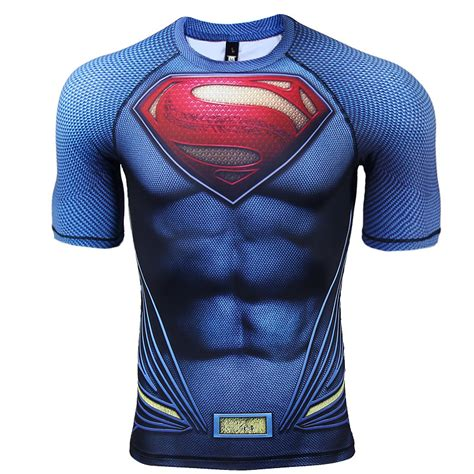 tshirt kaos superman superman sleeve compression t shirt comicstoy