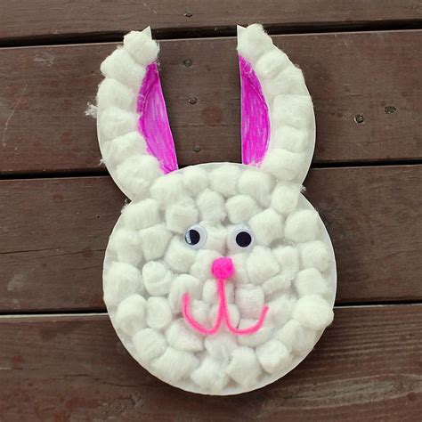 Easter Bunny Paper Plate Craft - easter craft paper plate bunny kid network
