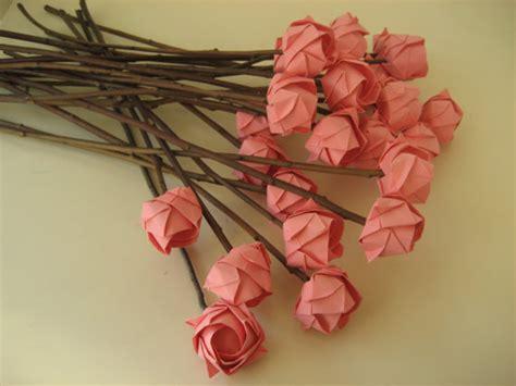 Flores De Origami - ramo de rosas de papel